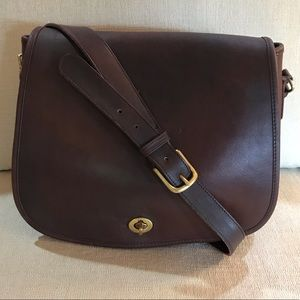 Vintage Coach Leatherware (1980's) Saddle Bag